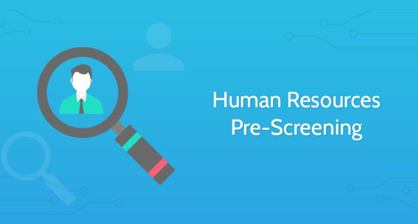 Human Resources Pre Screening